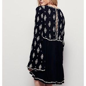 Like New Free People Embroidered Tunic Dress S